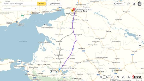 Ростов — Краснодар и обратно
